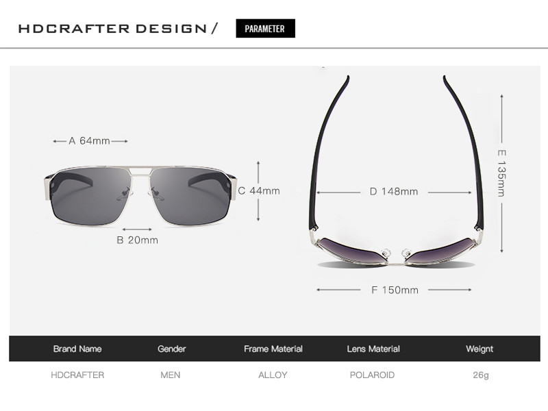 Gafas Lentes Sol Polarizado HDCRAFTER 8462: PS1551 Compra con ...