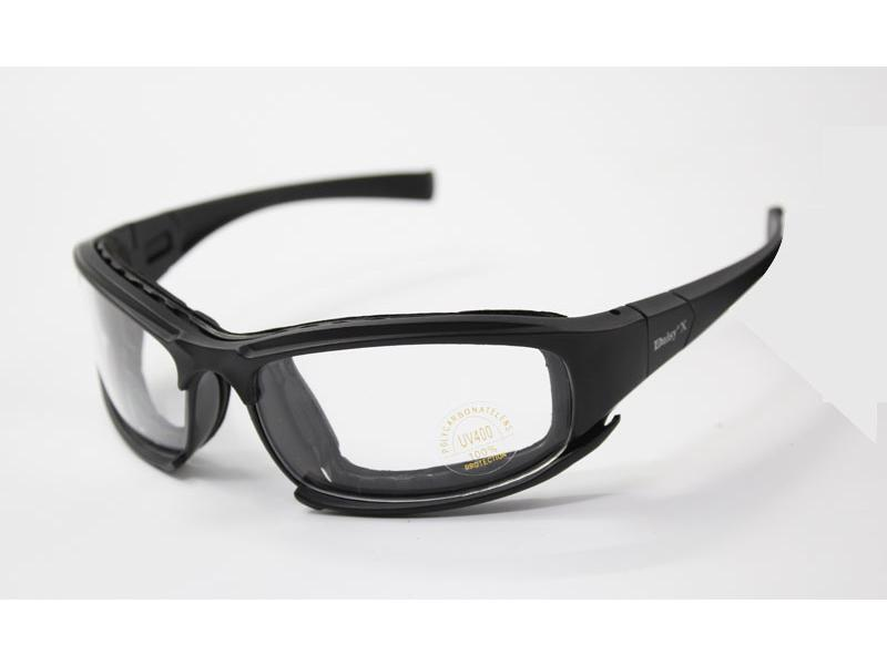 Gafas Militar Motocicleta 4 Lentes Color Negro (Polarizadas / No ...